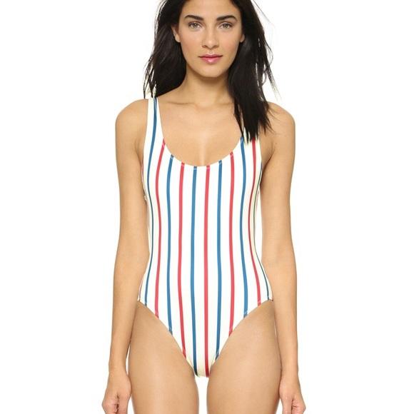 4362ea450a9ec NWOT Solid   Striped Anne Marie One Piece Suit. M 5aa440a536b9de5dbf381af7